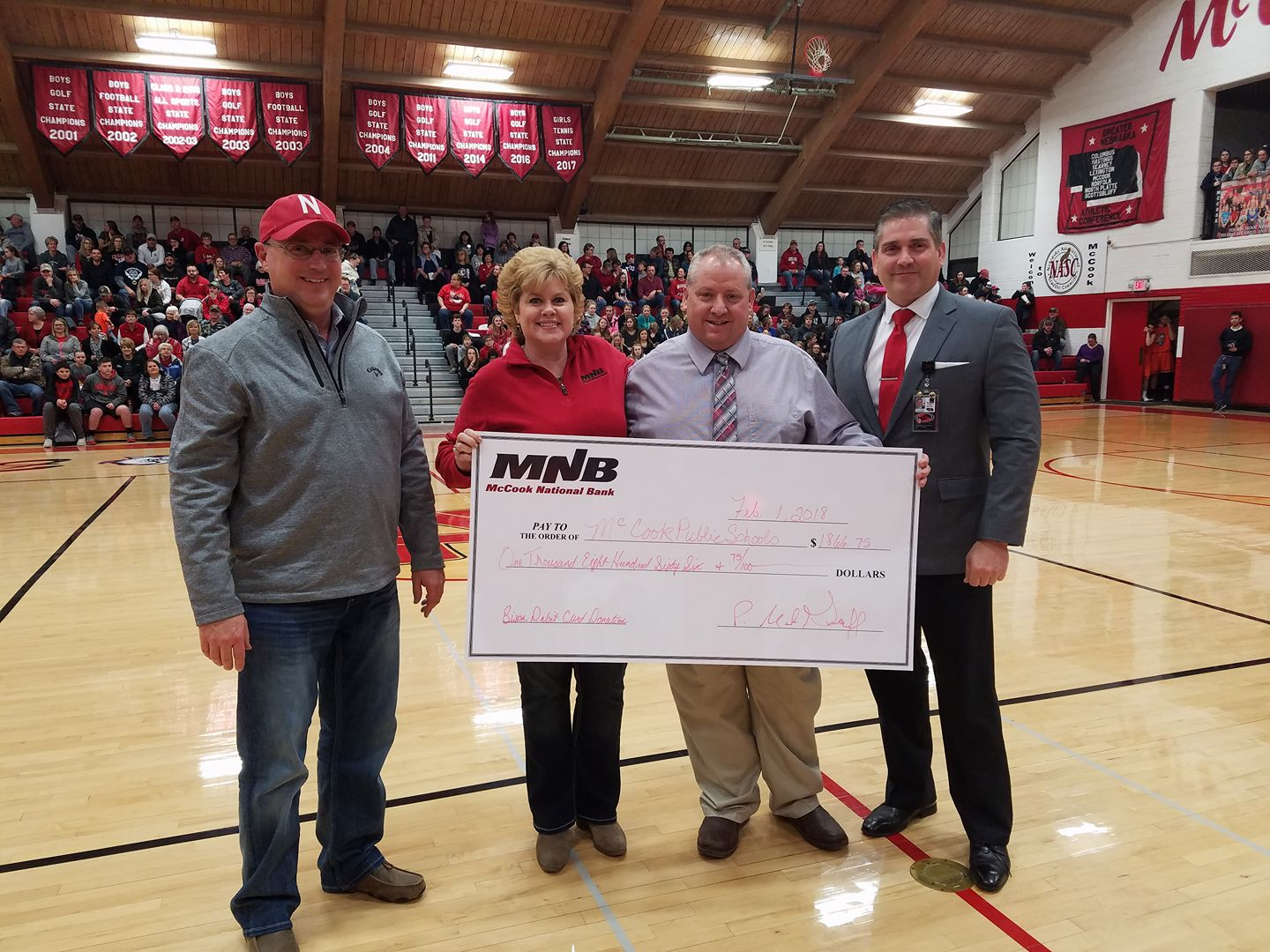MNB Presents Donation to McCook Public Schools