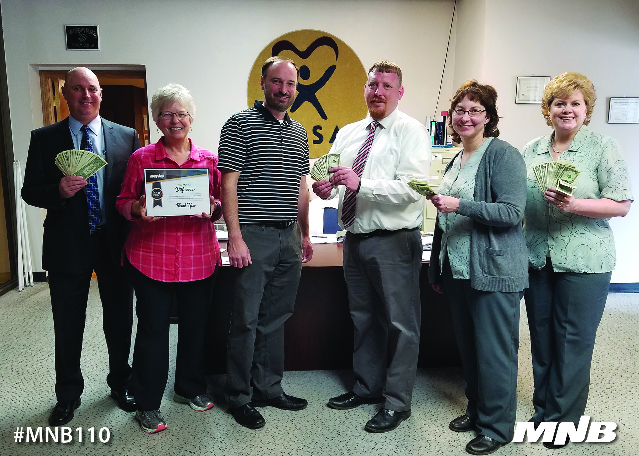 MNB Presents $110 Donation to Prairie Plains CASA