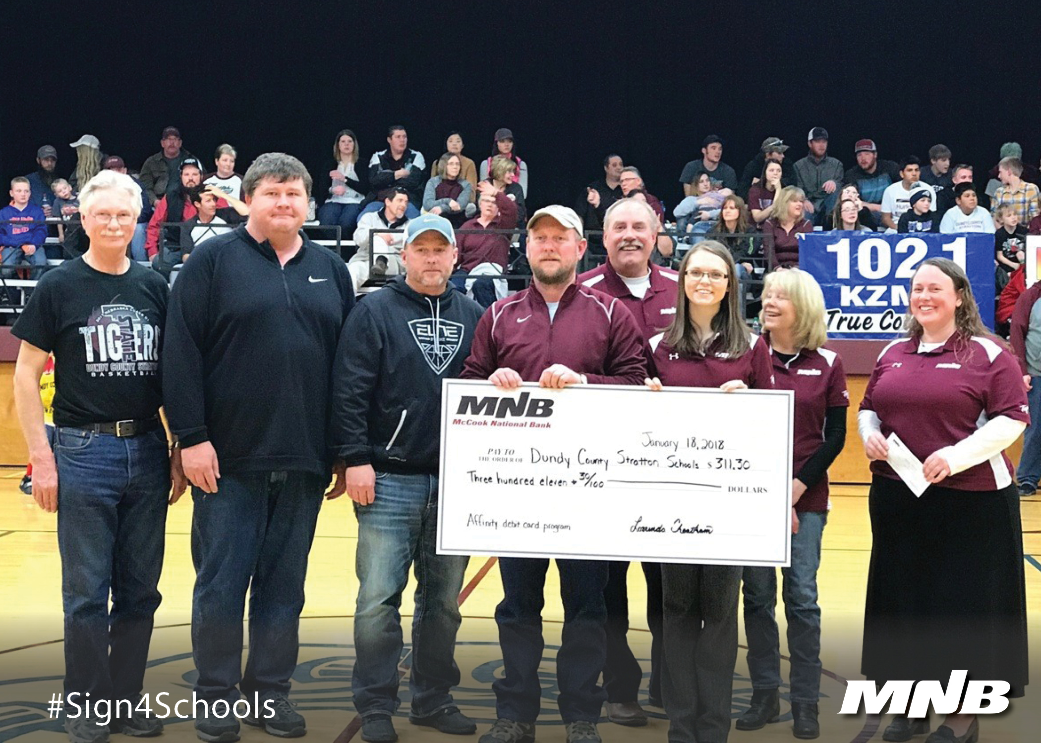 Dundy County - Stratton Public Schools Receives Donation from Tiger Debit Card Program