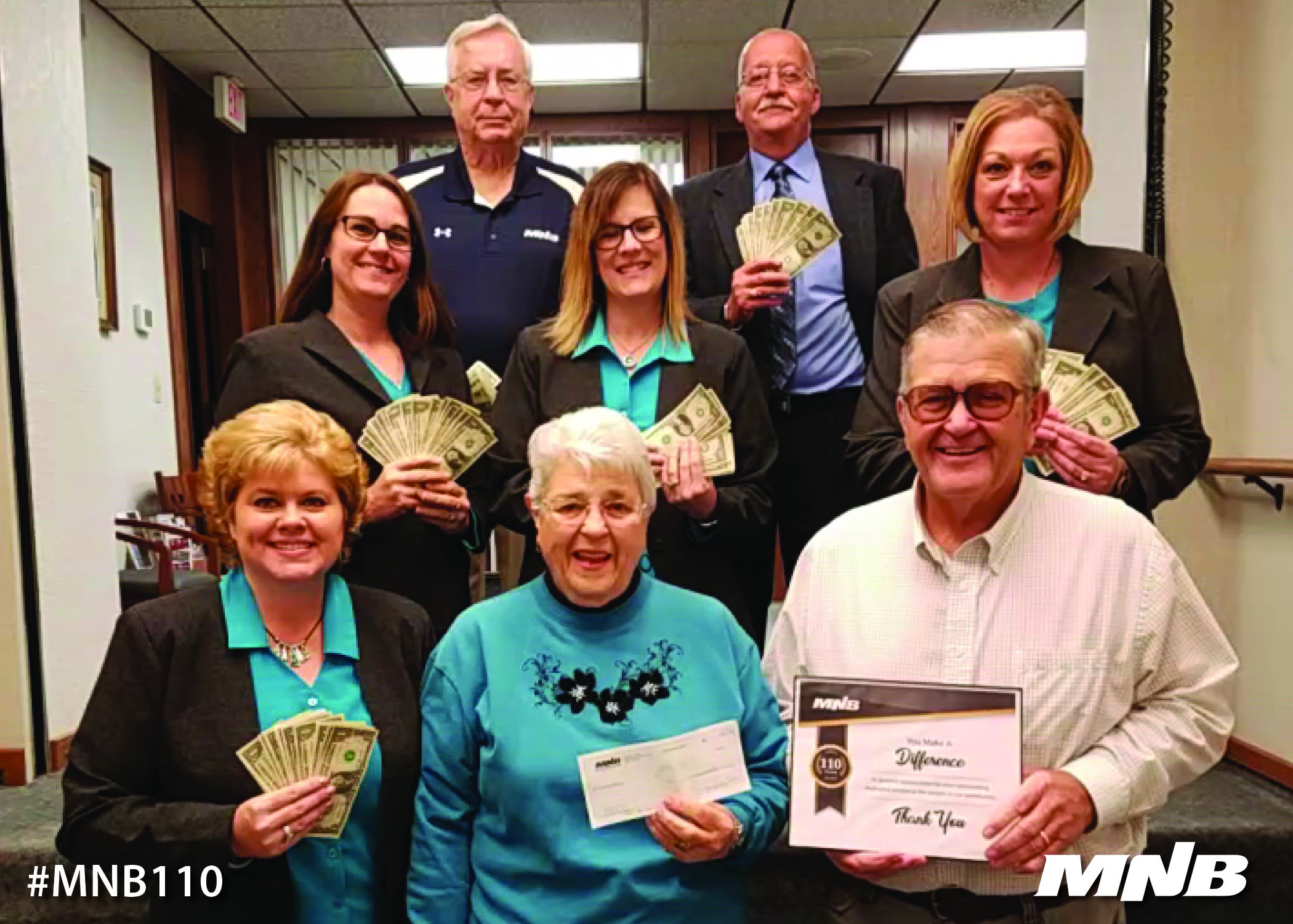 MNB presents $110 donation to McCook Food Pantry