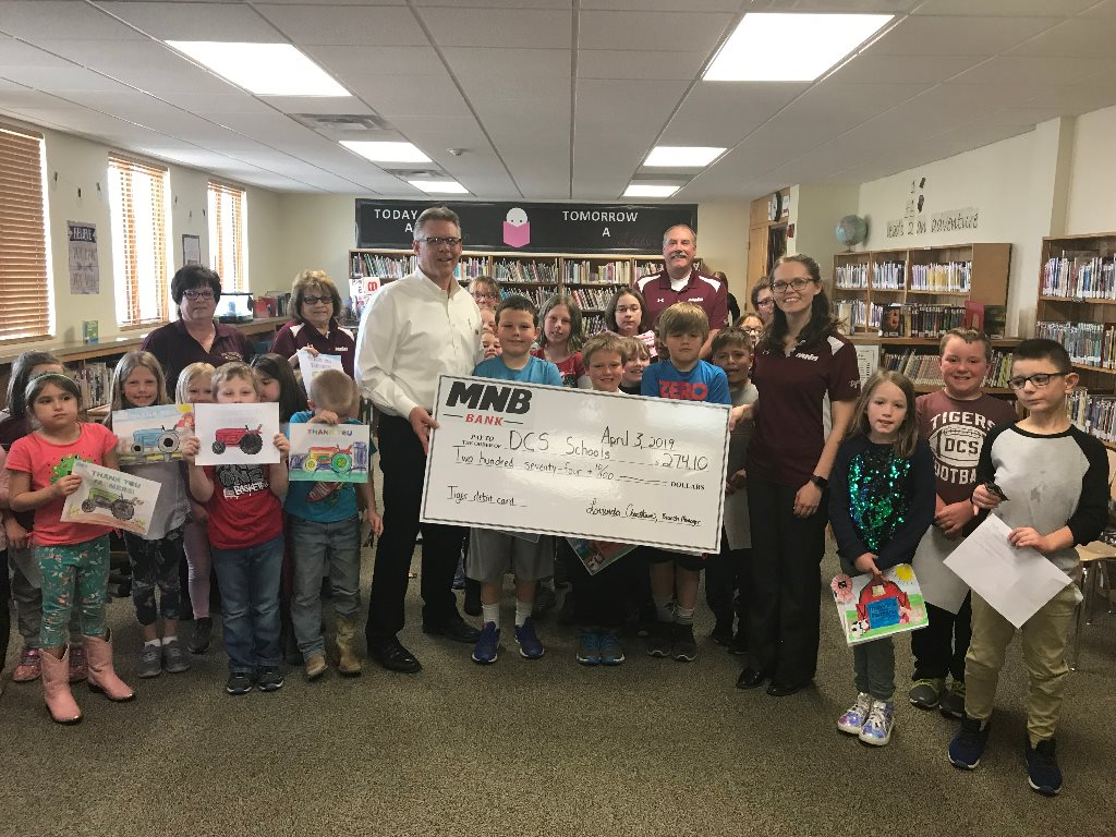 DCS Receives Debit Card Donation
