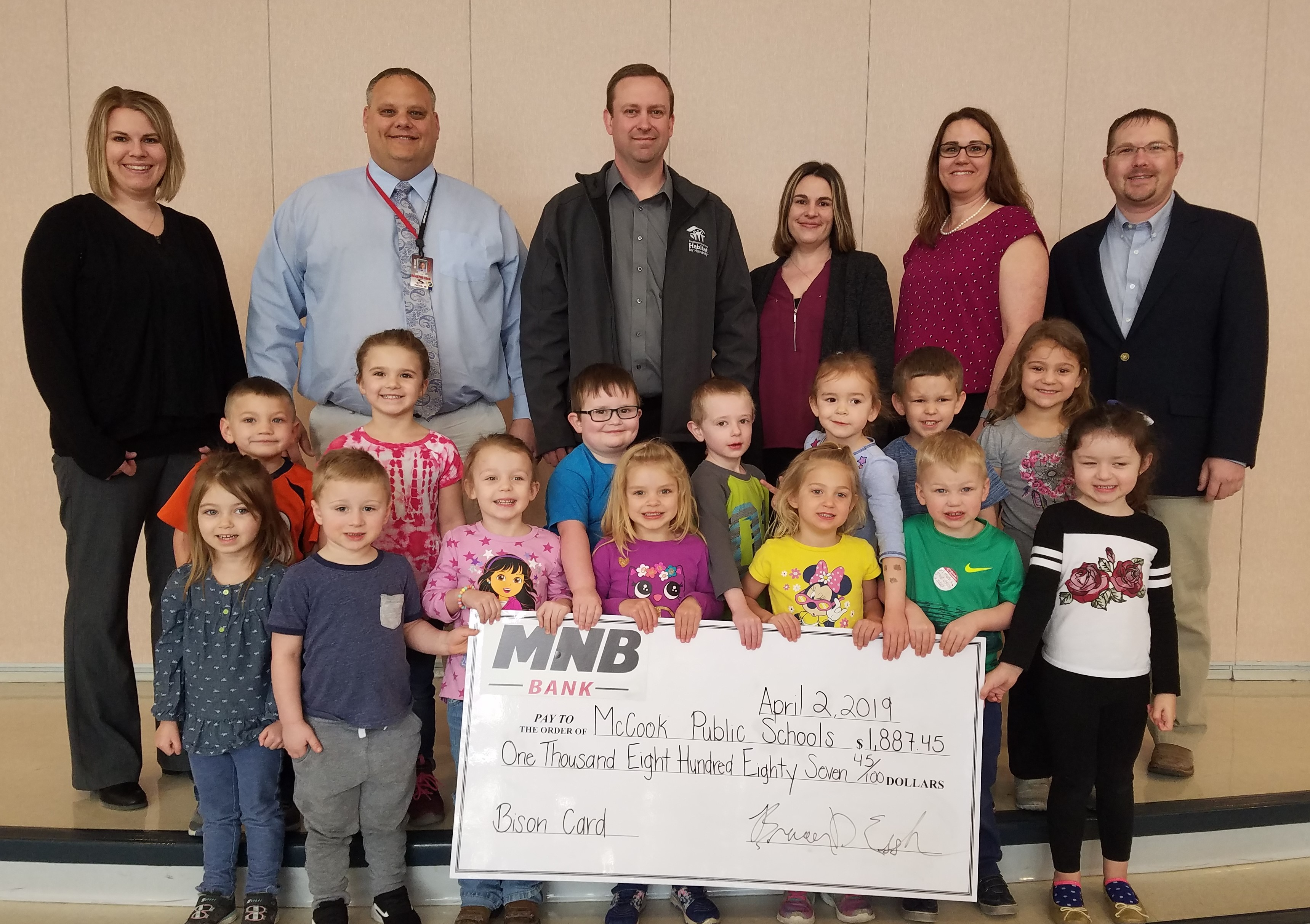 MNB Bison Debit Card Donation to McCook Public Schools